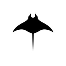 Black Manta Logo Vector