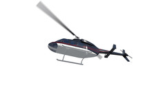 Privat Helicopter. Render 3d. ...