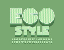 Vector Trendy Sign Eco Style. ...