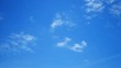 moving white cloud with beautiful blue sky background at day time