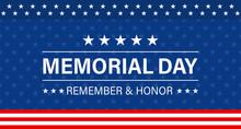 Memorial Day Background. Vecto...