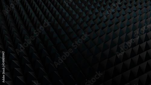 Black Acoustic Panels Studio Foam Wedges ,Sound proofing panel, Sound Absorption 3d render Canvas Print