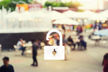 Unlock Of Business Concept Wit...