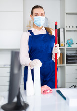 Woman Professional Cleaner In ...