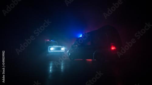 Photo ambulance car on blured background