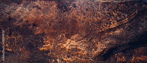 Foto Copper texture. Natural material. Noble metal background