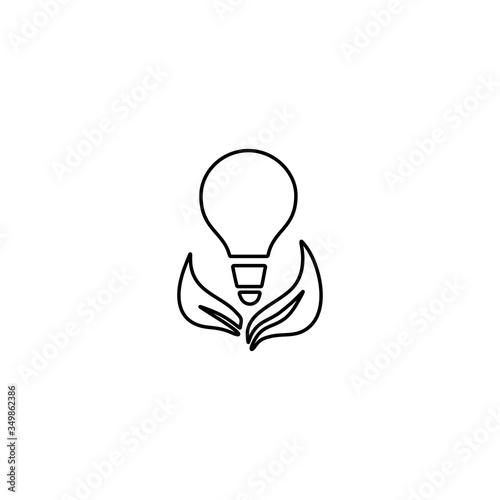 Photo Ecology bulb light icon