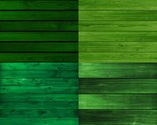 Green Wood Floor Vintage Texture Background
