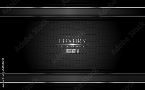 Photographie Abstract black and silver background design