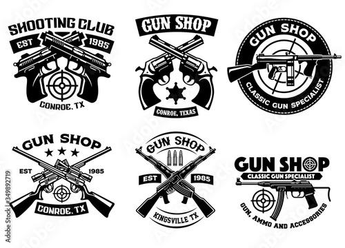 Fotografía shooting club badge set collection