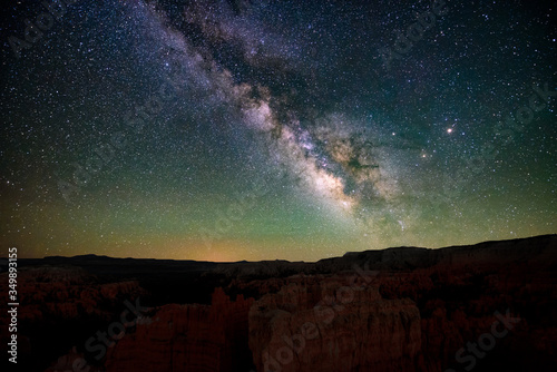 Fotografia Center of the milky way in dark skies of Bryce canyon