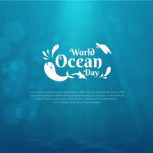 World Oceans Day Design With U...