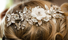 Wedding Hair Brooch White And ...