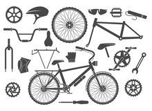 Bike Parts Isolated