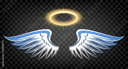 Cuadros en Lienzo Angel wings with nimbus