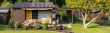 View Into A Allotment Garden W...
