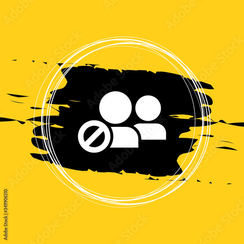 Blacklist Icon, Block User Icon Vector Illustration Eps10 Canvas Print