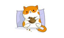 Kawaii Eats Cookies Sitting O...