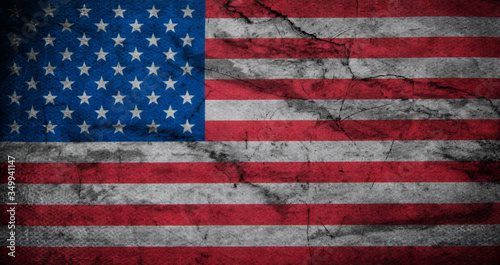 Flag of USA grunge background #349941147