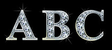 Diamond Alphabet Letters. Stun...