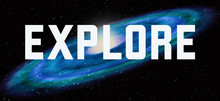 Explore Theme With Cosmic Spiral Galaxy Background