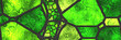 Leinwanddruck Bild - Stained glass- abstract mosaic architecture
