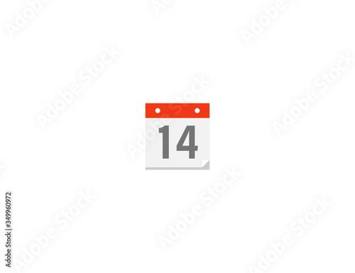 Calendar vector flat icon Canvas Print
