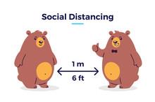 Social Distancing Vector Illus...
