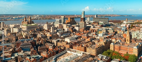 Liverpool skyline rooftop view