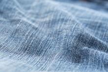 Blue Jeans Denim Fabric Close ...