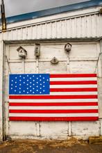 A Large United States Flag On ...