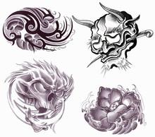 Japanise Tattoo Set