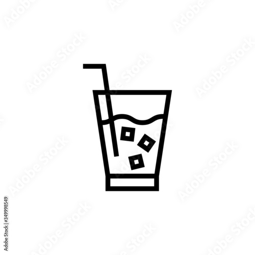 Photo Soft drink vector icon, soft drink icon symbol sign, drinks  in outline, lineart
