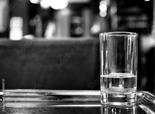 Fototapeta Close-up Of Drinking Glass On Table obraz