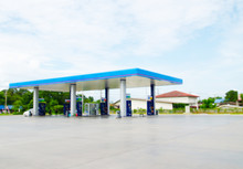 Defocused Image Of Gas Station