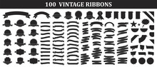 Set Of 100 Ribbons. Ribbon Ele...