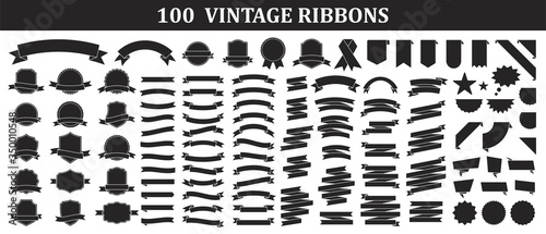 Foto Set of 100 Ribbons