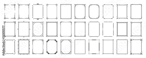 Set of decorative frames Fototapeta