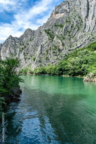 Fotografie, Obraz Matka Canyon and Matka Lake - located west of central Skopje, North Macedonia