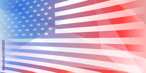 Fototapeta USA independence day abstract background with elements of the american flag in r