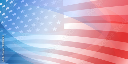 Valokuvatapetti USA independence day abstract background with elements of the american flag in r