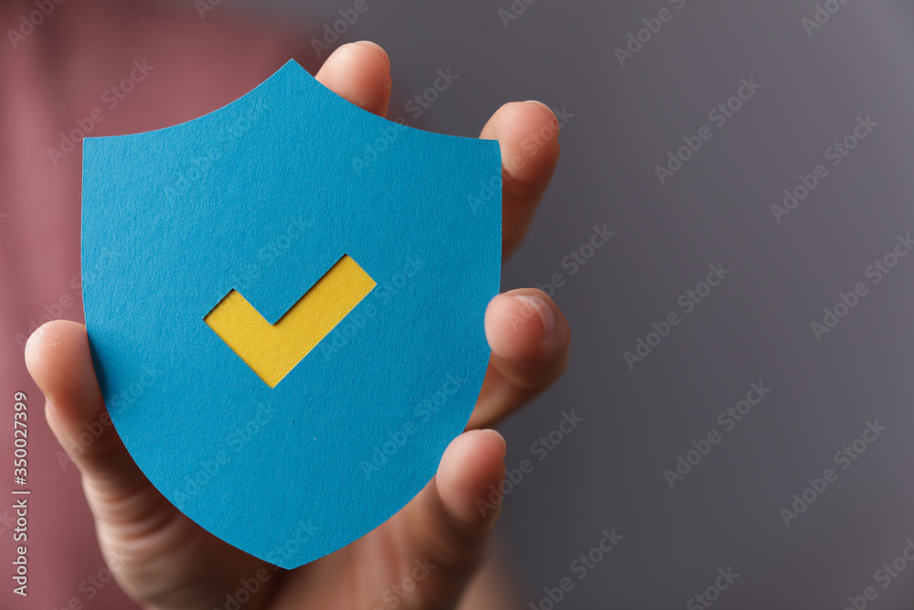 Fototapeta protection sign shield safe concept