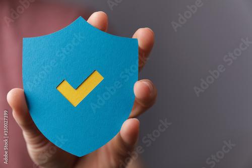 protection sign shield safe concept Fototapet