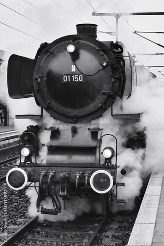 Fotografia Steam Train At Railroad Station