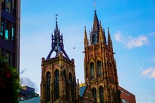 Low Angle View Of Gothic Church Towers