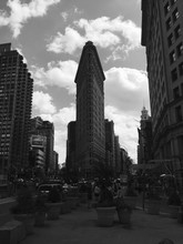 Historic Flatiron Building In City Against Sky
