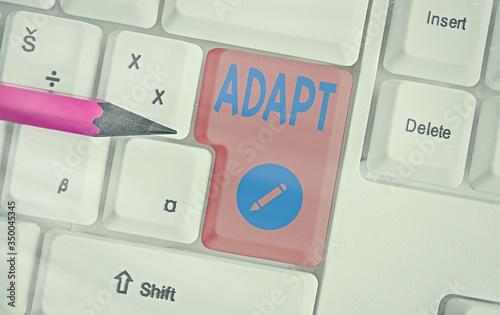 Photo Handwriting text Adapt