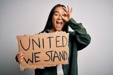 Young Beautiful Activist Asian...