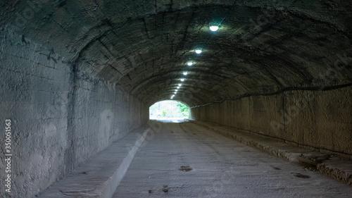 Mountain tunnel without people. New Athos, Abkhazia Canvas Print