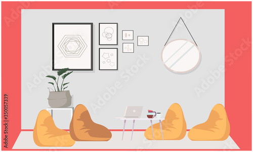 mock up illustration of a advanced meeting room Canvas Print